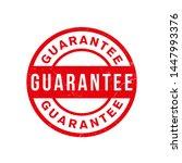 guarantee stamp vector design... | Shutterstock .eps vector #1447993376