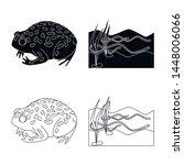 vector design of wildlife and... | Shutterstock .eps vector #1448006066