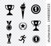 award medal flat icons vector... | Shutterstock .eps vector #1448008523
