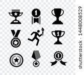 sport award medal icons vector... | Shutterstock .eps vector #1448008529