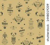 vector seamless pattern with...   Shutterstock .eps vector #1448019209