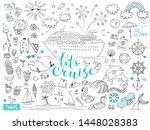 graphic set of elements.... | Shutterstock .eps vector #1448028383