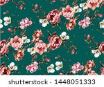 big pattern with classic... | Shutterstock .eps vector #1448051333