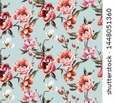 big pattern with baroque... | Shutterstock .eps vector #1448051360