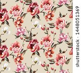 big pattern with baroque... | Shutterstock .eps vector #1448051369