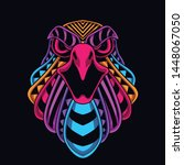 glow in the dark eagle from... | Shutterstock .eps vector #1448067050