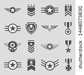 military badges icons. sticker... | Shutterstock .eps vector #1448073830