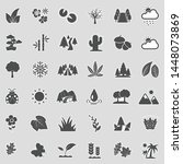 nature icons. sticker design.... | Shutterstock .eps vector #1448073869