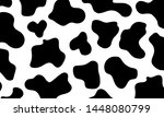black and white cow pattern can ...   Shutterstock . vector #1448080799