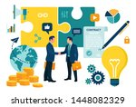 partnership concept. financing... | Shutterstock .eps vector #1448082329