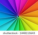 abstract colorful 3d deformed...   Shutterstock . vector #1448113643