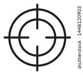crosshair icon   black and... | Shutterstock .eps vector #1448120903