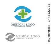 abstract medical care logo...   Shutterstock .eps vector #1448122736