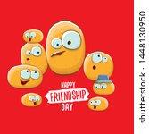 happy friendship day vector... | Shutterstock .eps vector #1448130950