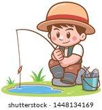 vector illustration of cartoon... | Shutterstock .eps vector #1448134169