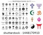 world religion symbols signs of ... | Shutterstock .eps vector #1448170910