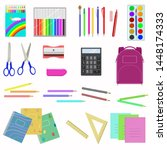 school supplies isolated image... | Shutterstock .eps vector #1448174333