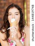 portrait of young happy woman... | Shutterstock . vector #144819748