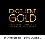 vector excellent gold 3d font.... | Shutterstock .eps vector #1448205560
