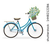 A Blue Lady Bicycle With A...