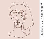 portrait a woman in modern... | Shutterstock .eps vector #1448222009