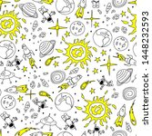seamless pattern with hand... | Shutterstock .eps vector #1448232593