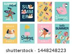 vector abstract summer time... | Shutterstock .eps vector #1448248223