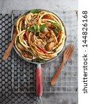 Hot Chill Clams Spaghetti. Top...