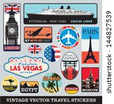 vector images of vintage travel ... | Shutterstock .eps vector #144827539