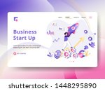 landing page business start up... | Shutterstock .eps vector #1448295890
