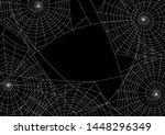 spider web silhouette halloween ...   Shutterstock .eps vector #1448296349