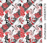seamless pattern with abstract...   Shutterstock .eps vector #1448309273