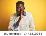 african american man wearing... | Shutterstock . vector #1448310353