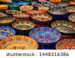 Painted Beautiful Dishes On Th...