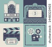 vector designs on movie theater ... | Shutterstock .eps vector #1448323403