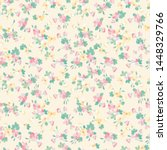 simple seamless floral pattern... | Shutterstock .eps vector #1448329766