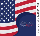 usa independence day graphic... | Shutterstock .eps vector #1448331539
