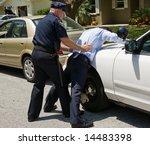 drunk driver spread eagle on... | Shutterstock . vector #14483398