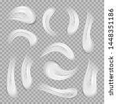 white cream elements. realistic ... | Shutterstock .eps vector #1448351186
