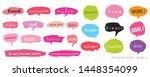 hand drawn set of speech... | Shutterstock .eps vector #1448354099