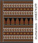 textile pallu art design for... | Shutterstock . vector #1448374199