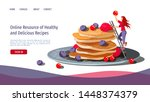 web page design template for... | Shutterstock .eps vector #1448374379