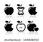apple  apple core  bitten  half ...