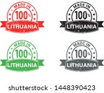 made in lithuania collection of ... | Shutterstock .eps vector #1448390423