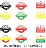 made in lithuania collection of ... | Shutterstock .eps vector #1448390576