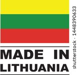 made in lithuania collection of ... | Shutterstock .eps vector #1448390633