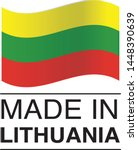 made in lithuania collection of ... | Shutterstock .eps vector #1448390639
