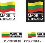 made in lithuania collection of ... | Shutterstock .eps vector #1448390660