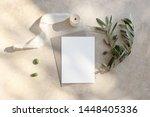 summer wedding stationery mock... | Shutterstock . vector #1448405336