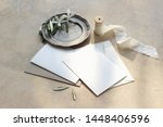 closeup of summer wedding... | Shutterstock . vector #1448406596